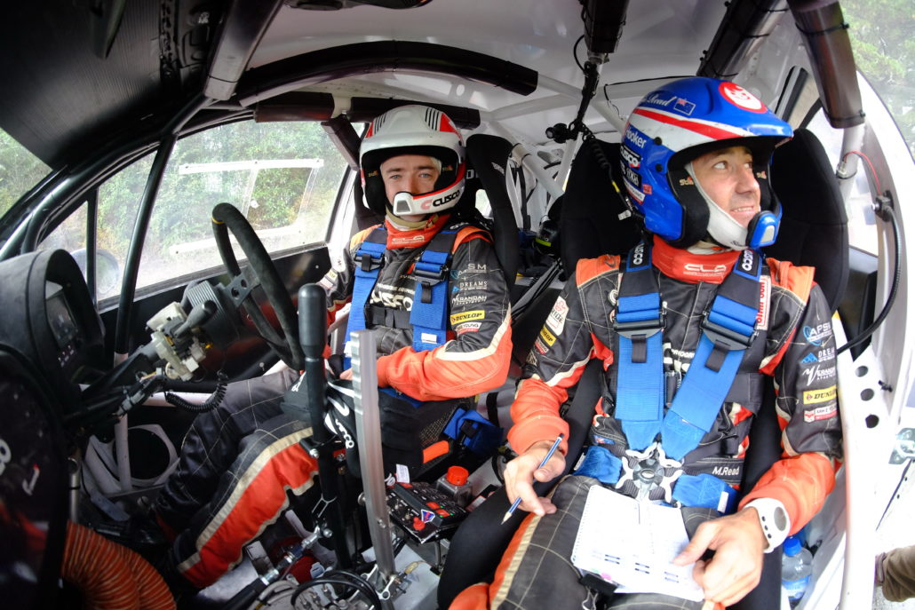 Mike Young and Malcolm Read in-car